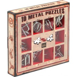 10 metalowych łamigłówek - zestaw czerwony