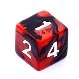Kość Rebel K6 - czerwono-czarna