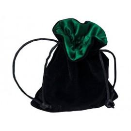Sakiewka na kostki - czarno-zielona