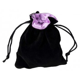 Sakiewka na kostki - czarno-fioletowa