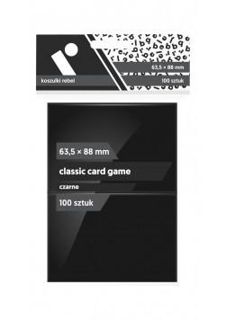 Koszulki Rebel (63,5x88 mm) Classic Card Game Premium - czarne - 100 sztuk