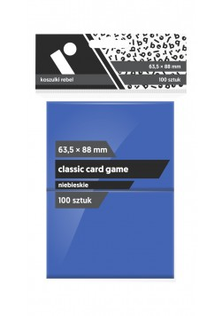 Koszulki Rebel (63,5x88 mm) Classic Card Game Premium - niebieskie - 100 sztuk