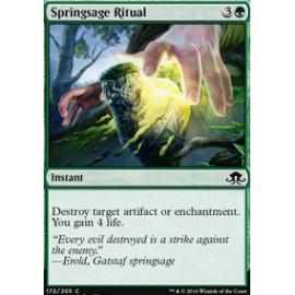 Springsage Ritual