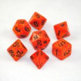 Zestaw 7 różnych kostek Koplow Elemental Polyhedral Assorted