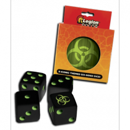 Legion - D6 Dice Tin - Iconic Bio (9x K6 16mm)
