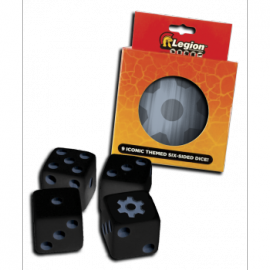 Legion - D6 Dice Tin - Iconic Gear (9x K6 16mm)