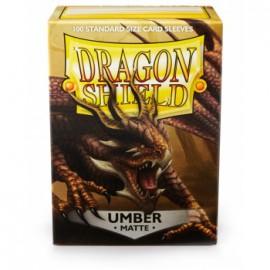 Koszulki Dragon Shield Matowe Umber 100 szt.