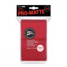 Koszulki PRO-MATTE Czerwone 100 szt. - Ultra Pro