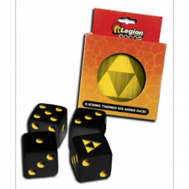 Legion - D6 Dice Tin - Iconic Tri-Force (9x K6 16mm)
