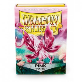 Koszulki Dragon Shield Matowe Różowe 60 szt.