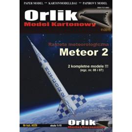 A029. Rakieta meteorologiczna Meteor-2 ( 2 modele -egz. nr 05 i 07)
