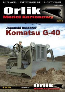 084. Japoński buldożer KOMATSU G-40