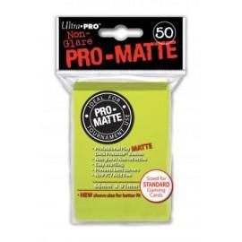 Koszulki PRO-MATTE Neonowy Żółty 50 szt. - Ultra Pro