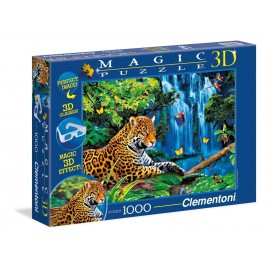 Magic Puzzle 3D - Jaguar Jungle (1000 elementów)