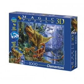 Magic Puzzle 3D - Dinosaur Valley (1000 elementów)