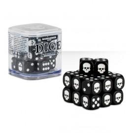 Zestaw kości Citadel Dice Cube (12mm) - Czarne