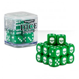 Zestaw kości Citadel Dice Cube (12mm) - Zielone