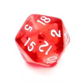 Kość Rebel K20 - kryształowa czerwona