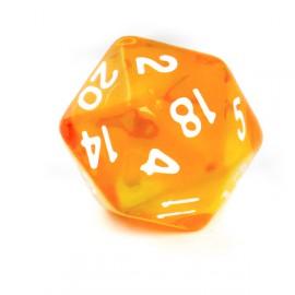Kość Rebel K20 - kryształowa pomarańczowa
