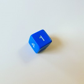 Kostka K6 numeryczna - Niebieska