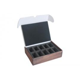 Pudełko mini z pianką na 10 modeli (25 mm)