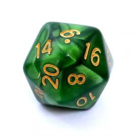 Kość Rebel K20 - perłowa zielona