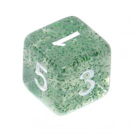 Kość Rebel K6 - brokatowa zielona