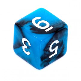 Kość Rebel K6 - czarno-niebieska