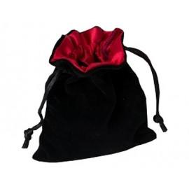 Sakiewka na kostki - czarno-czerwona