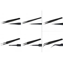 Zestaw pęset precyzyjnych 6 sztuk - Fine Art