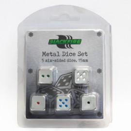 Zestaw 5 metalowych kostek K6 (15 mm)