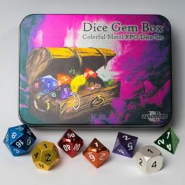Zestaw 7 metalowych kości RPG - Gem Box (Blackfire)