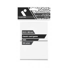 "Koszulki Rebel (63,5x88 mm) ""Classic Card Game Premium"" - białe - 100 sztuk"
