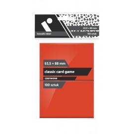 "Koszulki Rebel (63,5x88 mm) ""Classic Card Game Premium"" - czerwone - 100 sztuk"