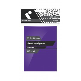 "Koszulki Rebel (63,5x88 mm) ""Classic Card Game Premium"" - fioletowe - 100 sztuk"