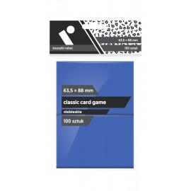 "Koszulki Rebel (63,5x88 mm) ""Classic Card Game Premium"" - niebieskie - 100 sztuk"