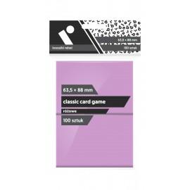 "Koszulki Rebel (63,5x88 mm) ""Classic Card Game Premium"" - różowe - 100 sztuk"