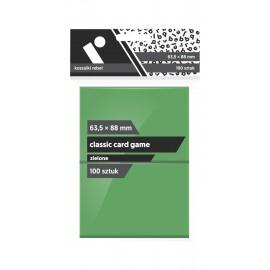 "Koszulki Rebel (63,5x88 mm) ""Classic Card Game Premium"" - zielone - 100 sztuk"