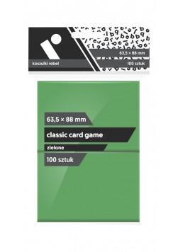 Koszulki Rebel (63,5x88 mm) Classic Card Game Premium - zielone - 100 sztuk