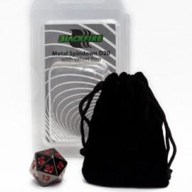 Metalowy licznik życia K20 - czarny (20 mm) + sakiewka