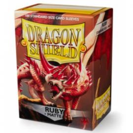Koszulki Dragon Shield Matowe Ruby 100 szt.
