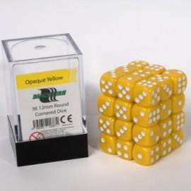 Zestaw 36 kostek K6 (12 mm) - żółte