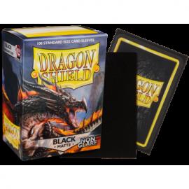 Koszulki Dragon Shield Matowe Non-glare - Black Amina 100 szt.