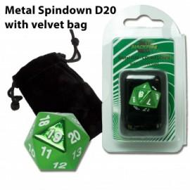 Metalowy licznik życia K20 - zielony (20 mm) + sakiewka