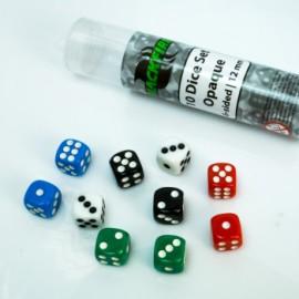 Zestaw 10 kostek K6 (12 mm) - nieprzezroczyste