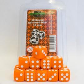 Zestaw 15 kostek K6 (16 mm) - pomarańczowy