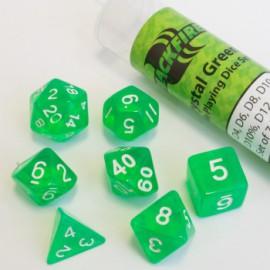 Zestaw 7 różnych kostek (16mm) - Crystal Green