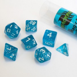 Zestaw 7 różnych kostek (16 mm) - Magic Blue