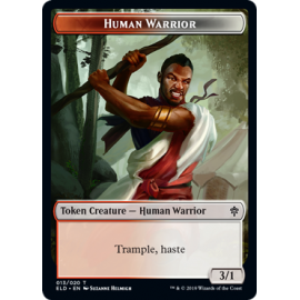 Human Warrior 3/1 Token 013 - ELD