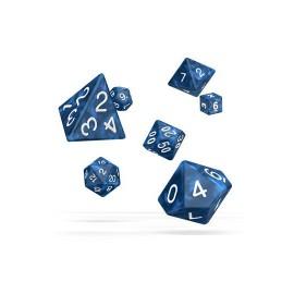 Zestaw kości Oakie Doakie Dice RPG Set marmurowe - niebieskie